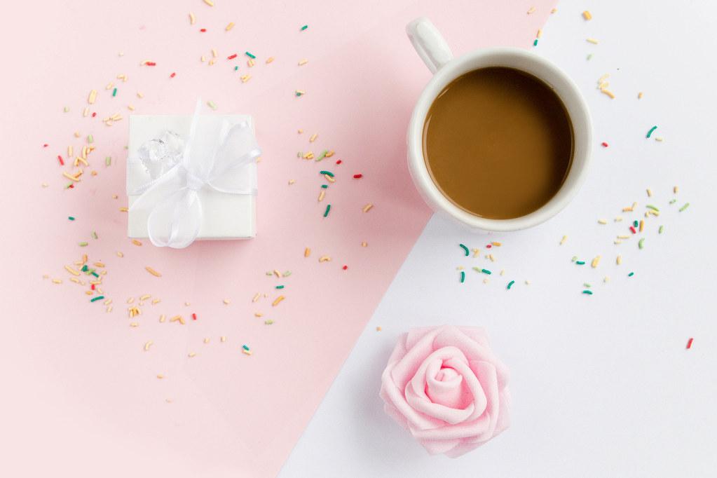Morning Coffee With Cake Or Teacake Bh
