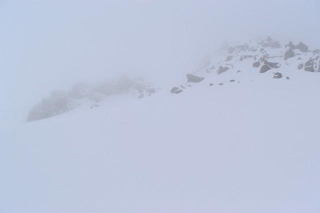 冬の焼岳登山