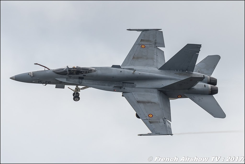 EF-18A Hornet de l'Ejército del Aire , Royal International Air Tattoo 2017 , Air Tattoo – RIAT 2017 , Fairford , UK Airshow Review 2017 , Meeting Aerien 2017