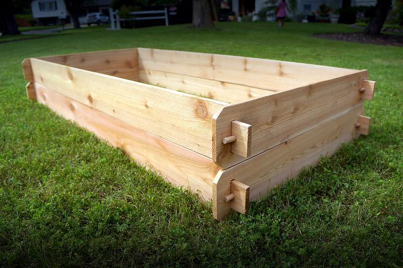Deep raised garden bed western red cedar vegetable planter gardening flower box ebay for How deep should a raised vegetable garden be
