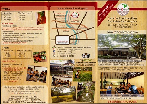 Brochure Calm Cool Cooking Class Chiang Mai Thailand 1