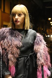 Pelliccia vintage abito nero angelo