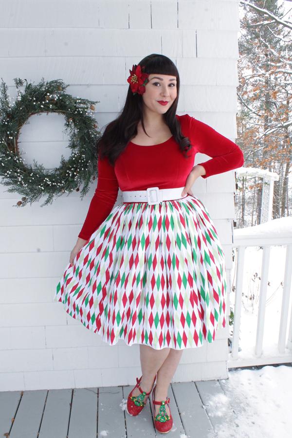 christmas dress vintage