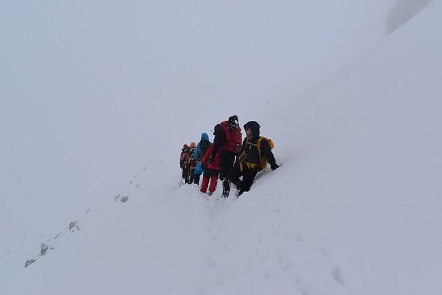 焼岳山頂直下