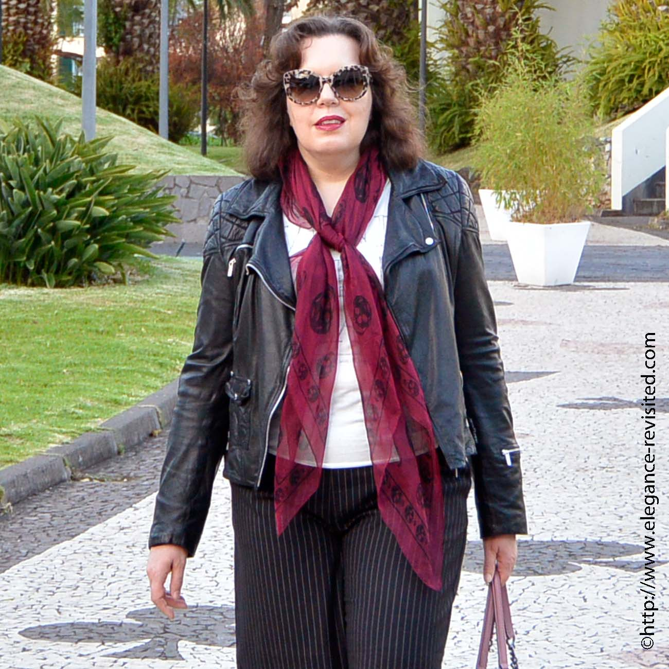how to wear a leather jacket over 40