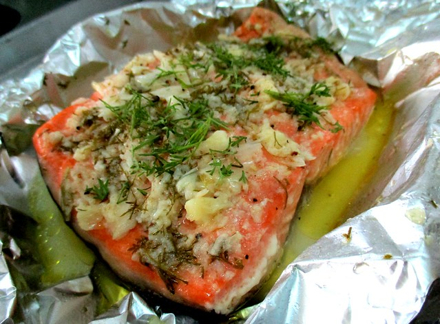 Christmas Eve dinner, salmon