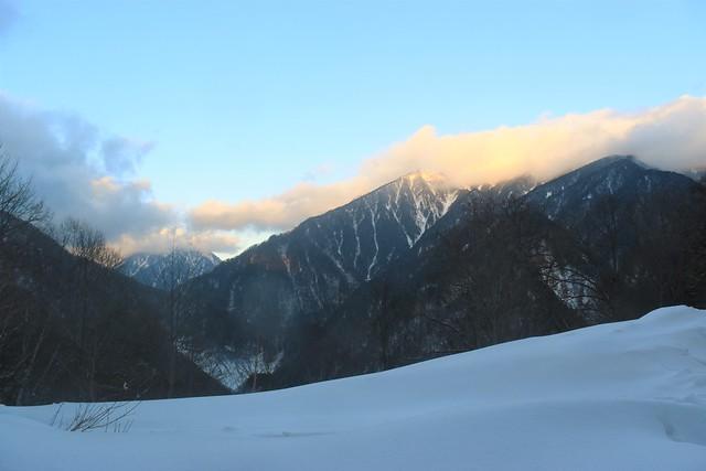 焼岳登山道から穂高方面の展望