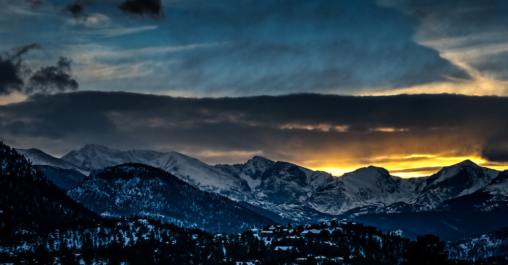 December Sunset, Rocky Mountain National Park