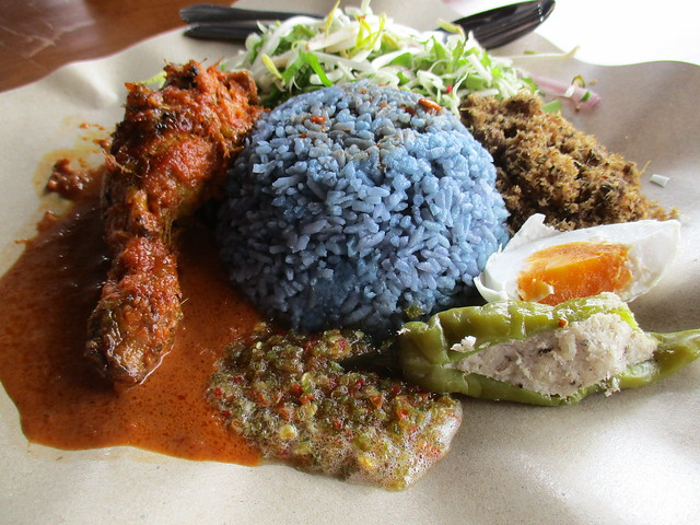 Warong Cafe nasi kerabu with ayam percik