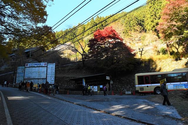御岳山ケーブルカーバス停