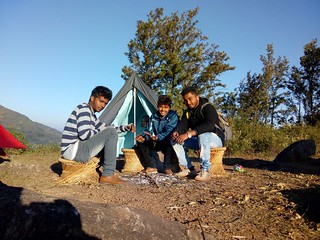 People Enjoying Camping in Araku