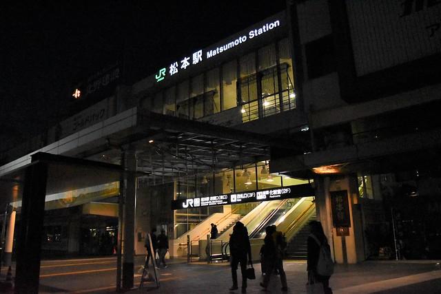 高速夜行バスでJR松本駅へ