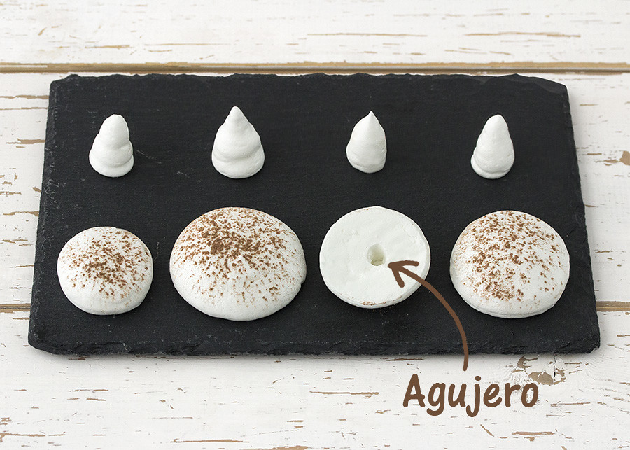 Receta champiñones de merengue