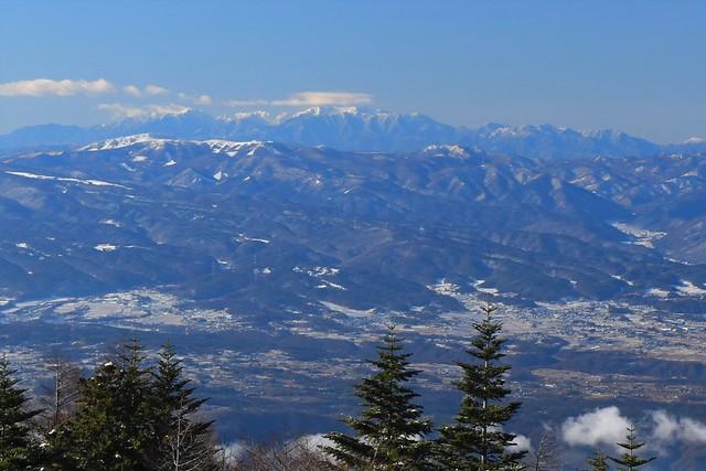 浅間山から眺める中央アルプス