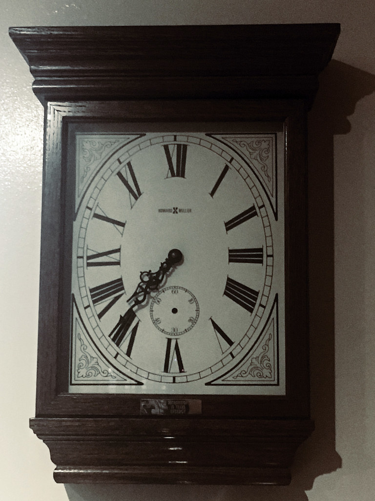 Fifteen Years Service Award from late in 1995; a battery powered clock. At some point the second hand fell off.