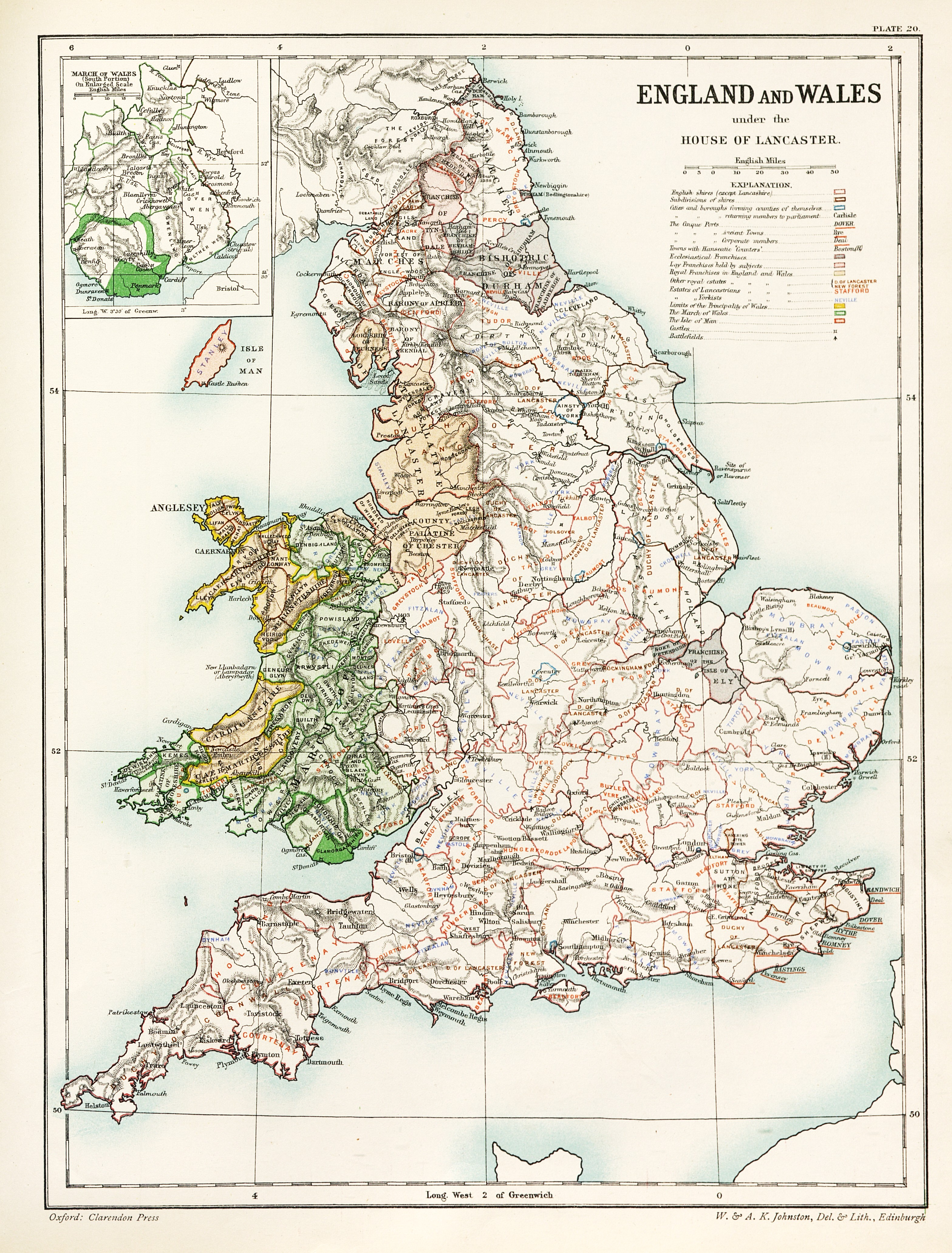 Map Of England Lancaster.England And Wales Under The House Of Lancaster 3135 X 4126 Mapporn