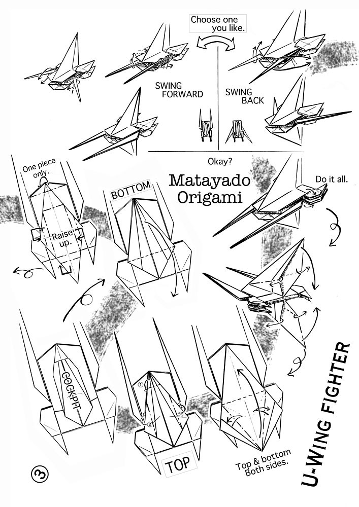 U Wing Fighter Origami Diagram 3 If You Finished To Fold T Flickr