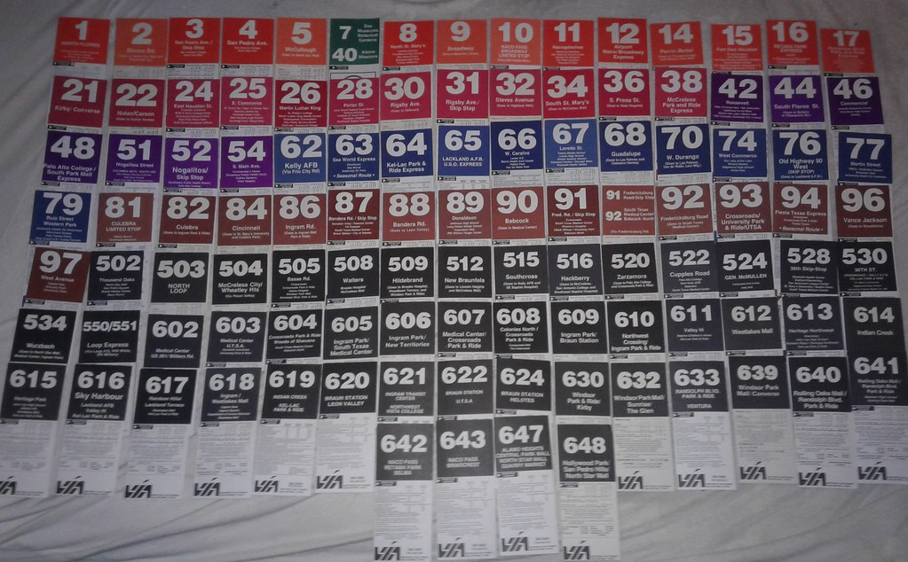 Old VIA Bus Schedules and System Maps | Old maps and schedul