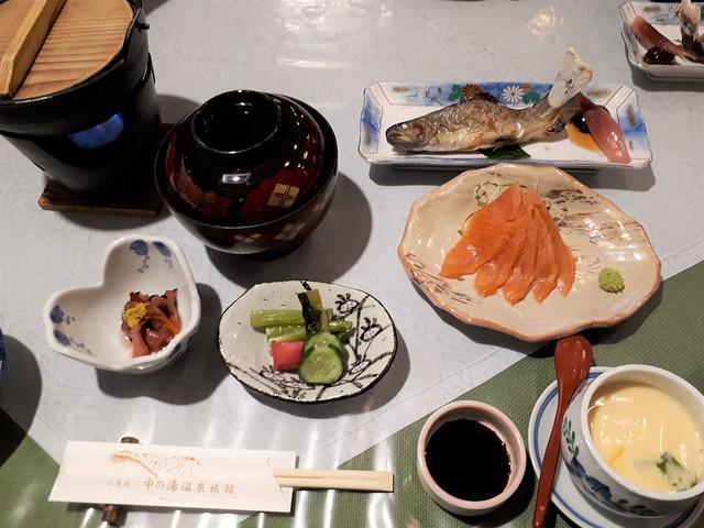 中ノ湯温泉旅館・夕食