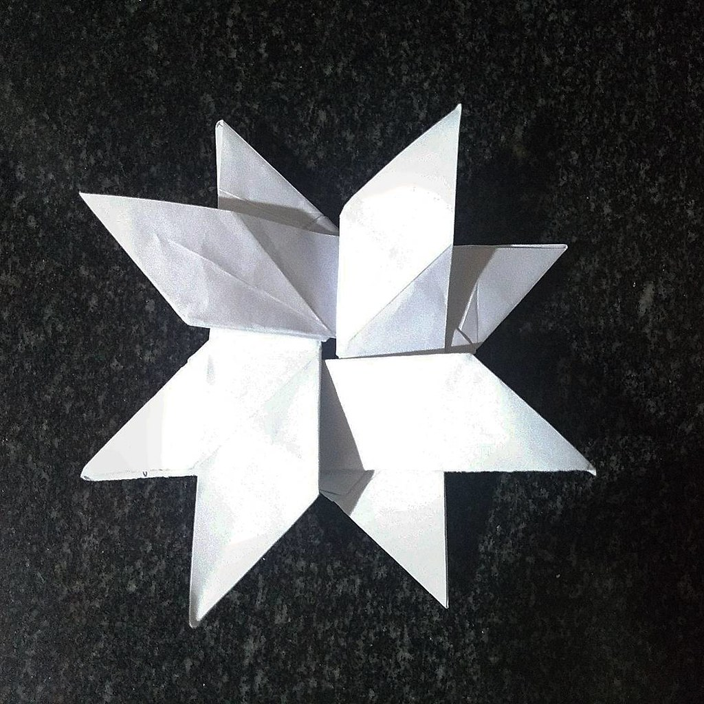 Star Flower Created By Me And Folded By Mesize 2121cm Paullon