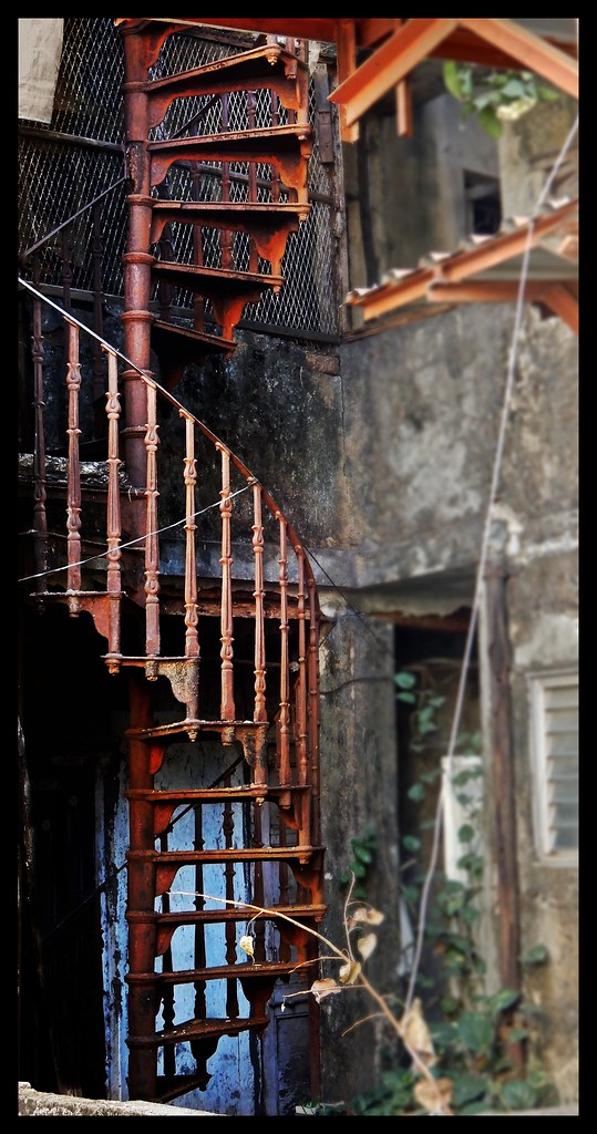 ... Wrought Iron Spiral Staircase @Ranwar @Bandra | By Indianature13