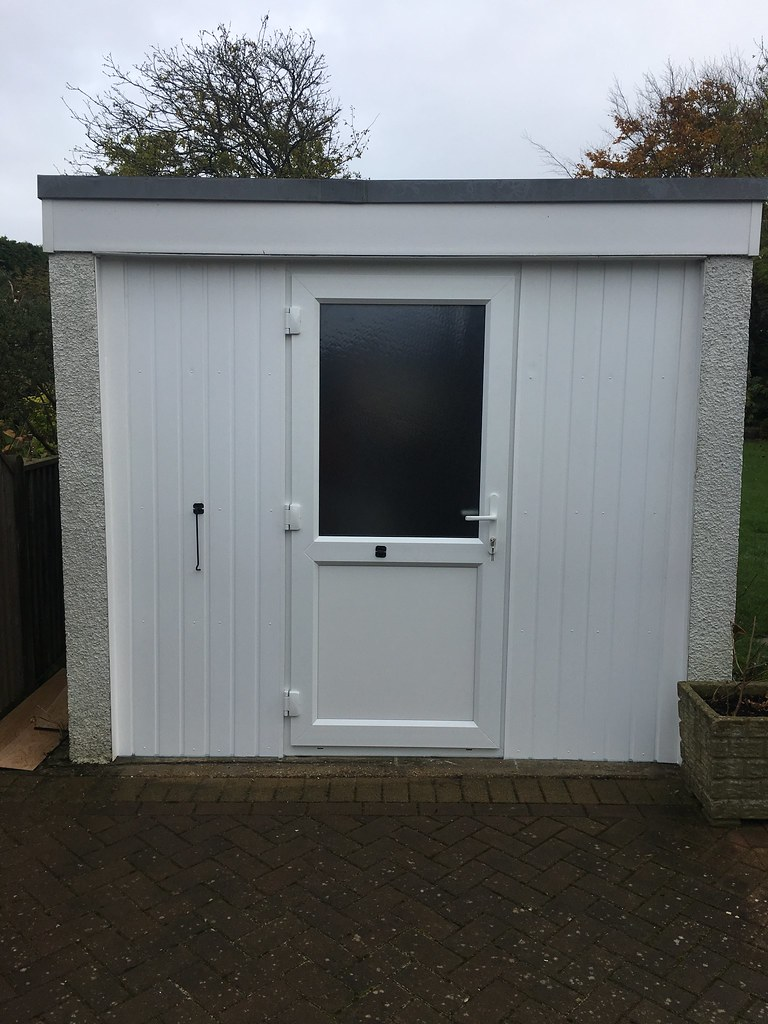 converting a single garage door opening with a upvc double glazed door by teamsegd - Garage Door With Door