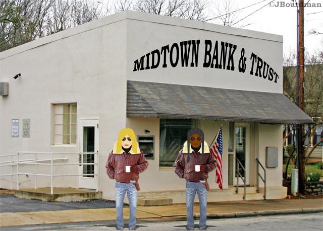Strange & White Eagle robbed Midtown Bank & Trust ©JBoardman