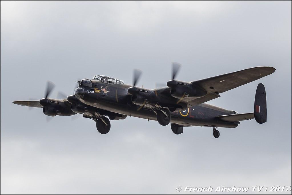 Battle of Britain Memorial Flight BBMF Lancaster PA474 , Spitfire , RAF , Royal International Air Tattoo 2017 , Air Tattoo – RIAT 2017 , Fairford , UK Airshow Review 2017 , Meeting Aerien 2017