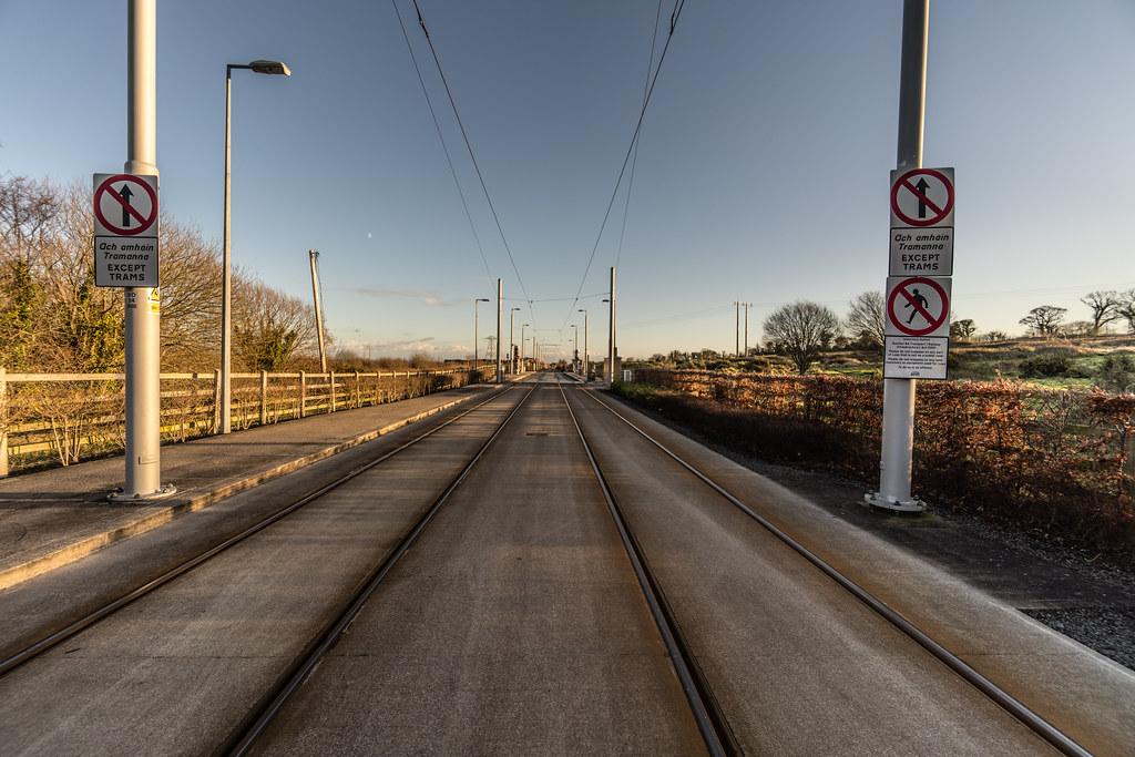 LAUGHANSTOWN TRAN STOP IN DUBLIN 009