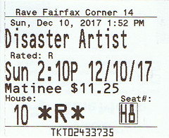 The Disaster Artist ticketstub