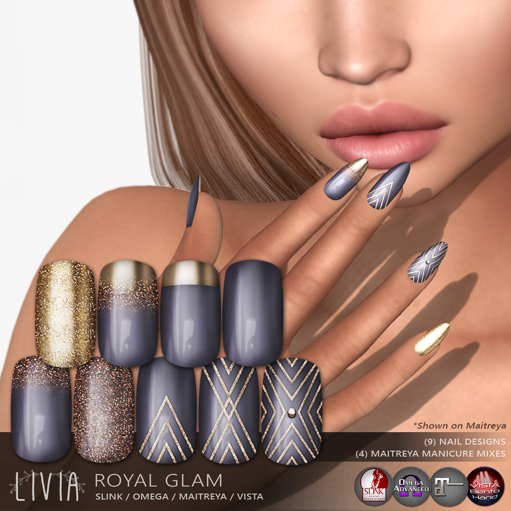 Livia Royal Glam Nails Exclusive Applique 22 Round Flickr