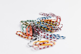 Group of colorful paperclips | by wuestenigel