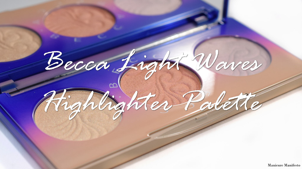 Becca light waves highlighter palette