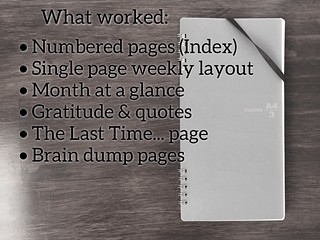 bujo what worked | by thepapergoddess