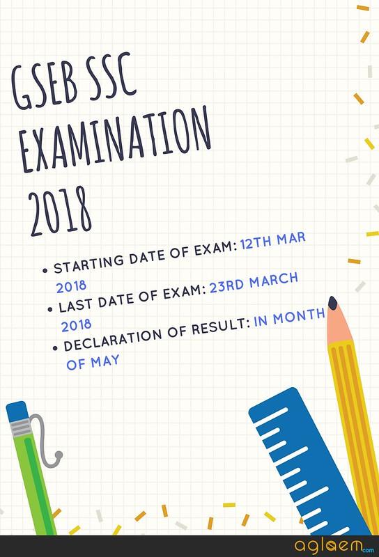 GSEB SSC Result 2018