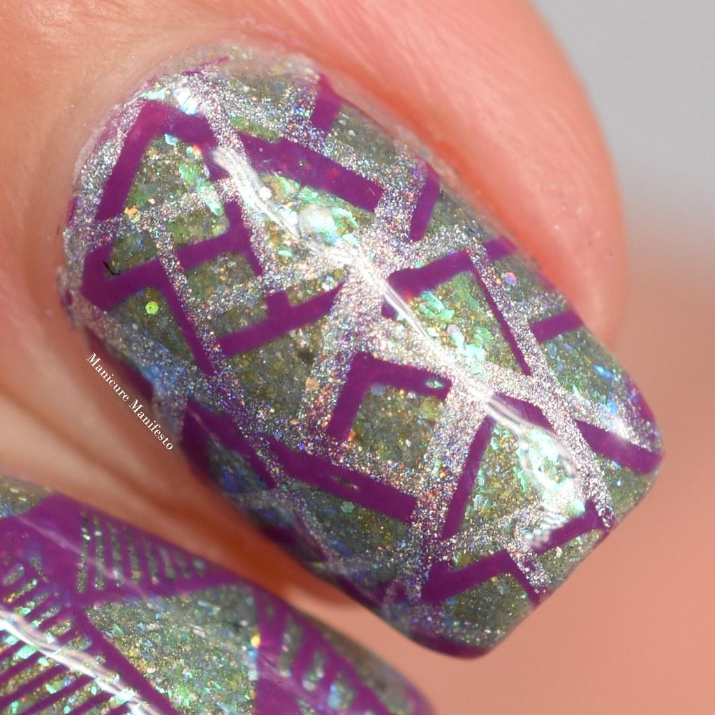 emily de molly silver holo stamping polish