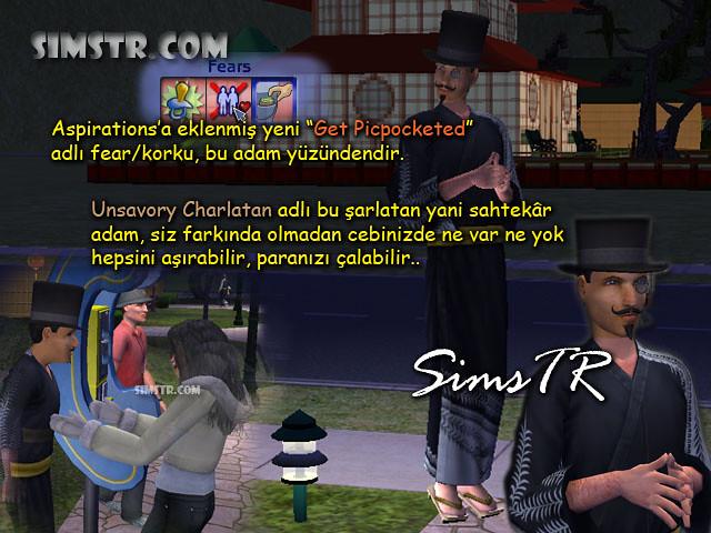 The Sims 2 Bon Voyage Unsavory Charlatan Şarlatan Sahtekar Sim Hırsız