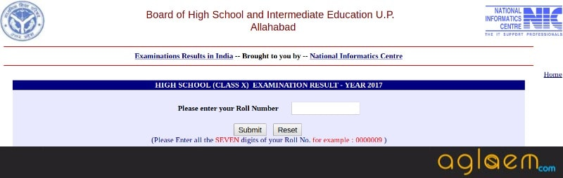 UP Board Result 2018 Class 10
