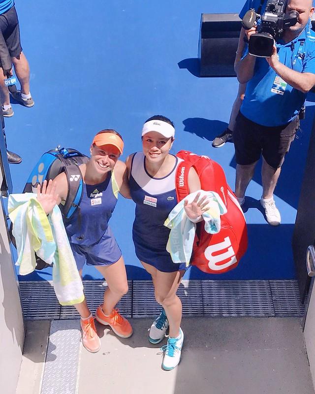 Andrea Hlavackova(左)與詹詠然。(資料照,劉雪貞提供)