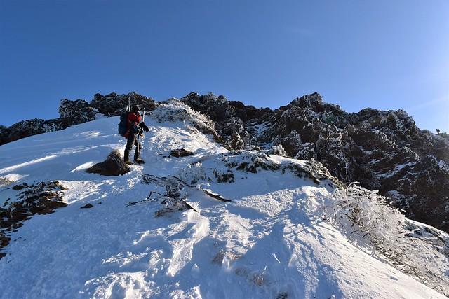 冬の赤岳(八ヶ岳) 雪山登山