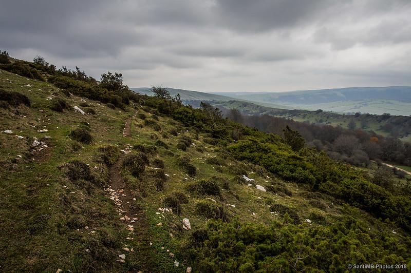Vereda ganadera detrás de las crestas de Ollide