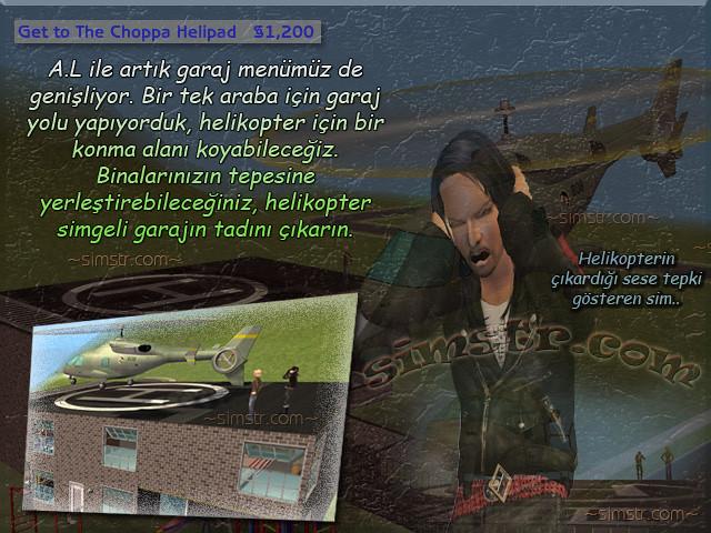The Sims 2 Apartment Life Apartman Hayatı Helicopter Helikopter Helipad