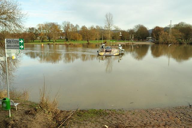 10. Januar 2018 Hochwasser Neckar Neckarhausen Ladenburg ... Foto: Brigitte Stolle