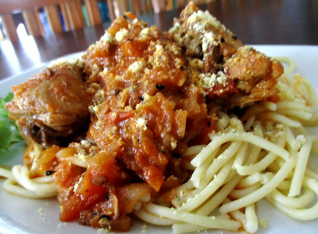 Payung Cafe butter chicken spaghetti 2