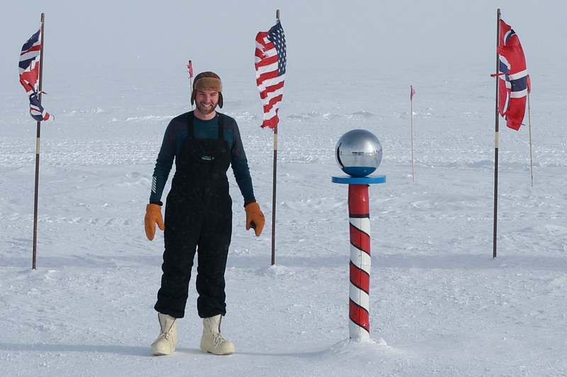 Alex Chartier at the Amundsen–Scott South Pole Station