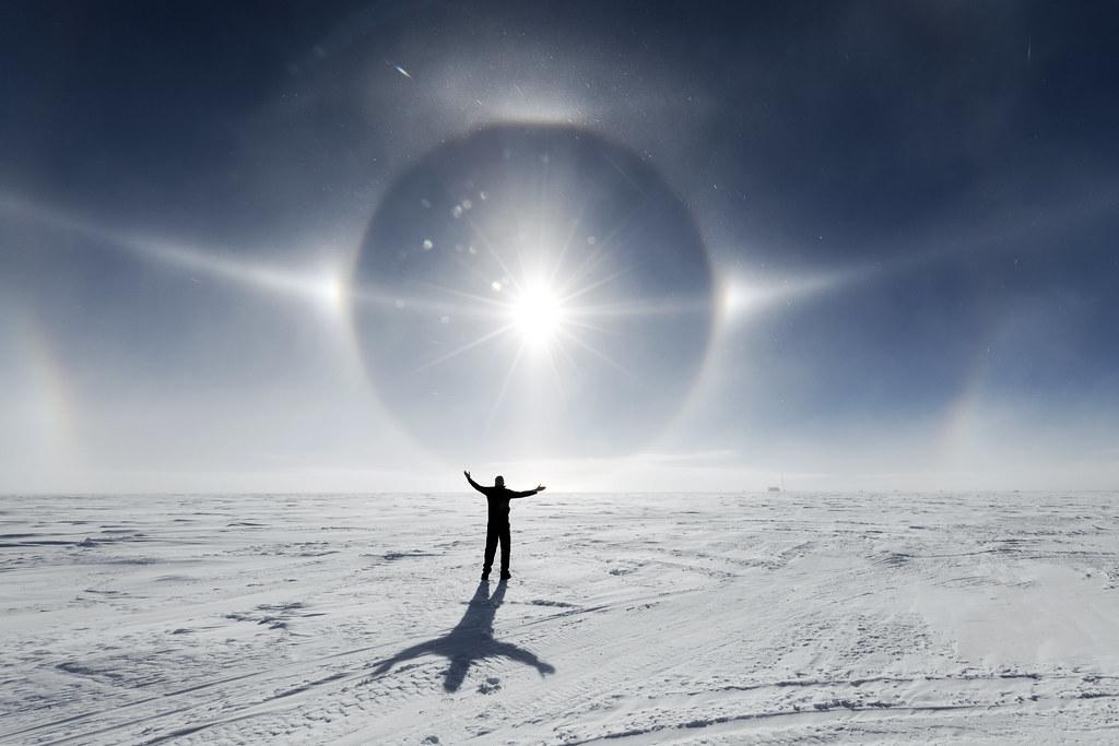 south pole sun dog antarctica 2018 christopher michel flickr