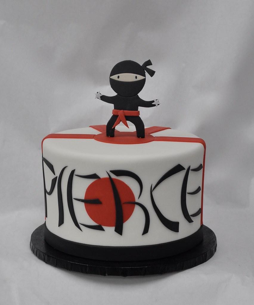 Ninja Birthday Cake Jenny Wenny Flickr