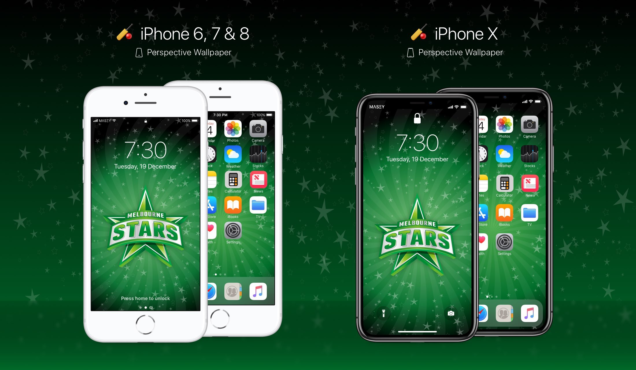 Melbourne Stars iPhone Wallpaper