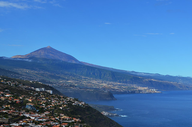 Densely populated north coast, Tenerife