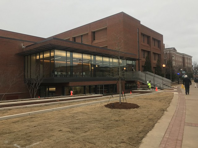 The new front entrance to Broun Hall at Auburn University